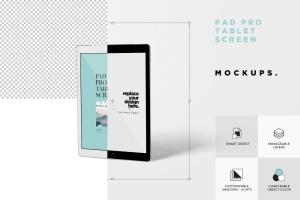 多角度iPad Pro屏幕演示样机PSD模板 Pad Pro Tablet Screen Mockup Set插图7