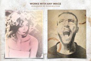 复古怀旧风格照片效果处理PSD图层 Vintage Photo Creator插图5
