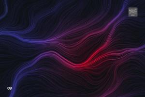 10款高分辨率抽象数流体线条PS笔刷 Digital Perlin Flow Fields Photoshop Brushes插图10