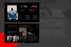 潮时尚酷黑背景Keynote幻灯片模板下载 Hypetone – Keynote插图6