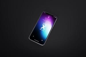 多角度iPhone X智能手机样机 Phone X Realistic Mock-Ups插图6