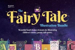 梦幻童话手绘矢量插画素材包 Fairy Tale Illustration Bundle插图1
