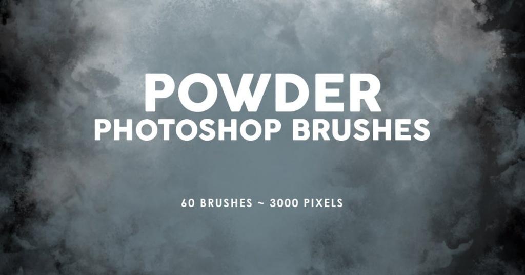 60个烟雾效果PS图案印章笔刷v1 60 Powder Photoshop Stamp Brushes插图
