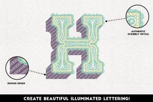 铅笔手绘风格图层样式 The Hand-drawn Pencil Type Tool Kit插图5