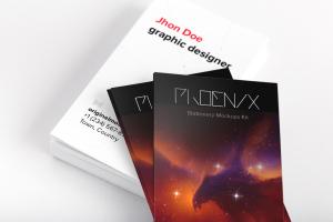 企业名片设计双面印刷效果图样机04 Business Cards Mockup 04插图1