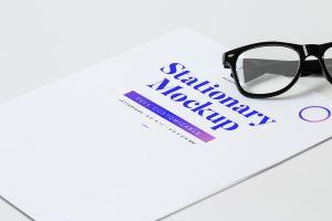 简约大方企业信笺信头设计样机模板01 Letterhead Mockup 01插图1