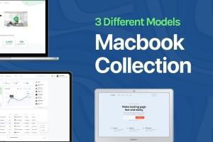 Apple MacBook笔记本电脑Web设计效果图样机 Apple Macbook Mockup Collection插图1