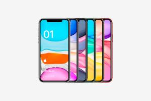 全新iPhone 11手机屏幕界面演示样机模板[PSD格式]插图1