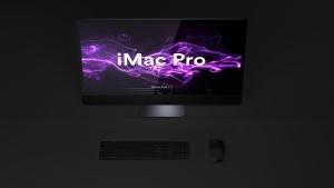 酷黑背景iMac Pro一体机电脑样机模板 Dark iMac Pro Mockup插图6