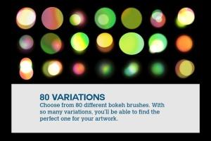 80+款照片后期处理散景效果圆点PS笔刷 Boke-Aji – 80 Large Bokeh Brushes插图2