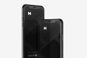 iPhone X智能手机APP设计图演示样机模板02 Free iPhone X Mockup 02插图3