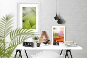 办公场景油画艺术品照片框架样机 Frame Creator Mockups插图5