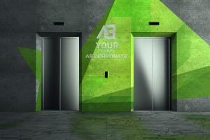 3D企业logo墙壁艺术样机模板 Corporate Logo Mockups V1插图1