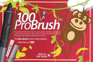 100+高品质PS画笔下载 ProBrush™ 100 + Free Demo插图1