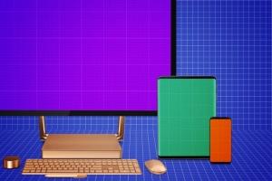 跨平台设计项目展示样机合集 Responsive Screens Mockup插图8
