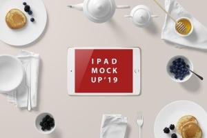 西式早餐场景iPad Mini设备展示样机 iPad Mini Mockup – Breakfast Set插图8
