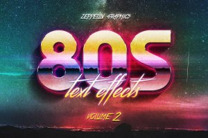 80s年代文本图层样式Vol.2 80s Text Effects Vol.2插图1