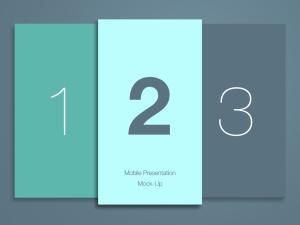 简约风格移动应用界面设计预览样机模板 Phone Application Presentation Mockup插图2