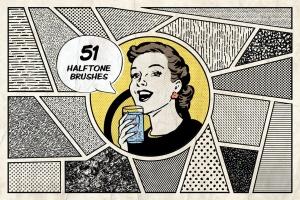 漫威&DC欧美复古漫画插画设计工具包插图(6)