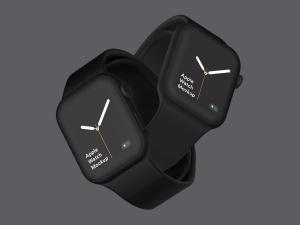 苹果第四代智能手表超级样机套装 Apple Watch 4 Mockups插图4