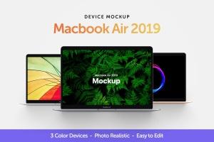 MacBook 2019版本Web网站设计案例展示样机 Macbook Air 2019 Mockup插图1