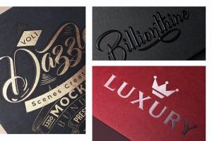 逼真Logo商标印刷效果图样机模板 Photorealistic Paper Logo Mockups插图2