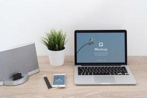 12款苹果笔记本&平板样机模板 Mockup Pack – 12 PSDs插图9