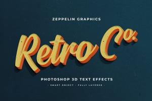 复古设计风格3D立体字体样式PSD分层模板v7 Vintage Text Effects Vol.7插图3