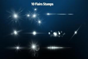 50个Procreate专用的灯光特效笔刷套装插图1