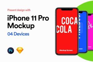 iPhone 11 Pro智能手机屏幕预览样机模板 iPhone 11 Pro Mockup插图2