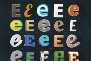 不同风格3D立体文字特效样式智能样机模板 3D Text Mockup Kit插图2