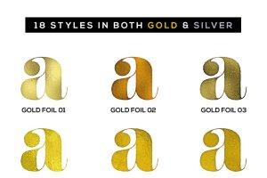 100%矢量闪亮金箔图层样式 Shimmer & Shine: 100% Vector Gold插图4
