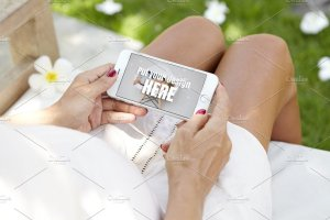 生育育儿主题孕妇手持iPhone样机模板 iPhone Pregnat Mockups插图10