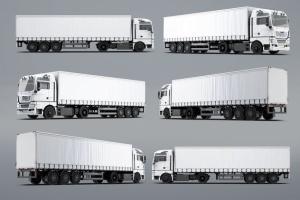 半挂车半挂卡车外观喷漆图案样机模板 Trucks Mock-Up插图9