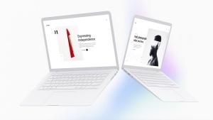 白色超极本笔记本电脑样机模板 White Laptop Mockup插图12