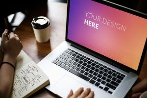 笔记本电脑设备网站设计演示样机 Digital laptop device Mockup插图2