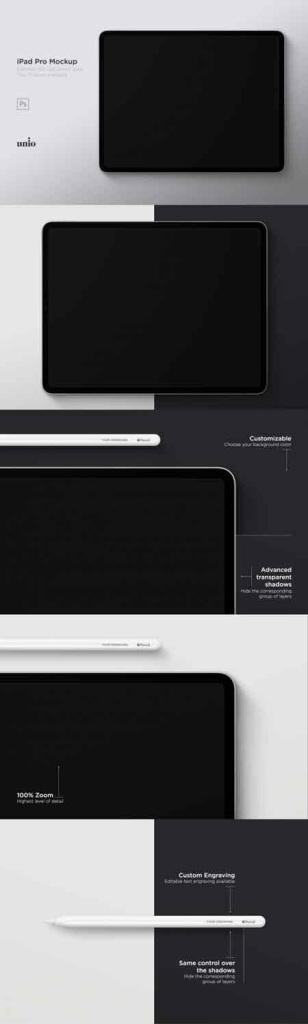 高品质的iPad Pro 12.9 英寸展示样机 IPad Pro 12,9 [psd]插图