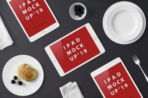 高品质的早餐场景的iPad Mini样机UI展示模型mockups插图7
