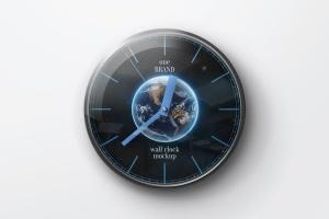 逼真圆形传统指针挂钟样机 Wall Clock Mockup插图4