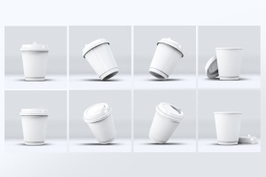 咖啡纸杯外观设计效果图样机模板 Coffee Cup Mock-Up V.2插图3