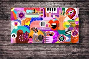 抽象艺术插画矢量背景素材 Abstract Art Vector Background插图1