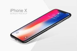 iPhoneX苹果智能手机UI界面设计样机 iPhone X Mockup插图1