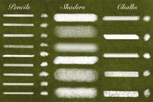 20种超级多功能Procreate笔刷合集[铅笔/粉笔/着色器] Natural Brushes for Procreate插图5