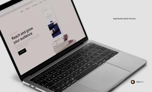 超逼真笔记本电脑屏幕演示样机模板v1 Laptop Mockups vol01插图5