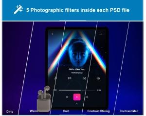 音乐APP界面设计效果图iPad Pro平板电脑样机模板 iPad Pro Music App插图7
