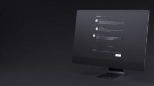 网站UI设计效果图预览黑色iMac电脑样机模板 Dark iMac Mockup插图11