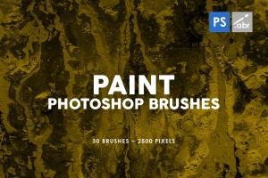 30款油漆手工纸张纹理肌理PS笔刷v2 30 Paint Texture Photoshop Brushes Vol. 2插图1