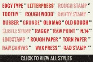 复古手工印刷文本图层样式 Sloppy Press Inc.插图7