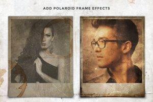 复古怀旧风格照片效果处理PSD图层 Vintage Photo Creator插图3