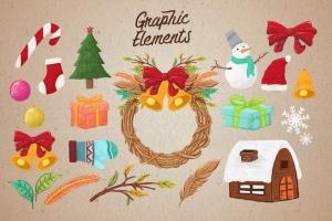 圣诞气氛装饰手绘矢量图案设计素材 Christmas Vibes插图3